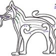 graphisme celtique 1 : Chien