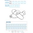 Exercice d'écriture et de graphisme : A et AVION