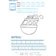 Exercice d'écriture et de graphisme : B et BATEAU