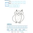 Imprimer la fiche de graphisme : H et HIBOU