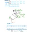 Exercice d'écriture et de graphisme : K et KOALA