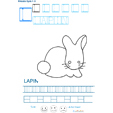 Exercice d'écriture et de graphisme : L et LAPIN