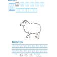 Exercice d'écriture et de graphisme : M et MOUTON