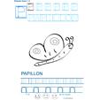 Imprimer la fiche de graphisme : P et PAPILLON