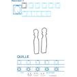 Exercice d'écriture et de graphisme : Q et QUILLE