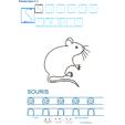 Exercice d'écriture et de graphisme : S et SOURIS