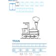 Exercice d'écriture et de graphisme : T et TRAIN
