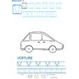 Imprimer la fiche de graphisme : V et VOITURE