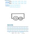 Exercice d'écriture et de graphisme : W et WAGON
