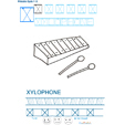 Imprimer la fiche de graphisme : X et XYLOPHONE