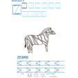 Exercice d'écriture et de graphisme : Z et ZEBRE