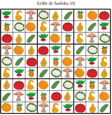 Solution de la grille de sudoku 10