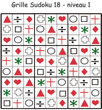 Solution de la grille de Sudoku 18