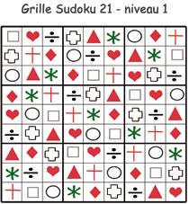 Solution de la grille de Sudoku 21