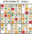Sudoku 27 sur les légumes - maternelle