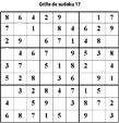 Sudoku enfant niveau 2 du primaire grille 17