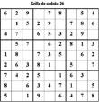 Sudoku enfant niveau 2 du primaire grille 26