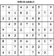 Imprimer la grille de sudoku 1 - niveau 2