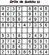 Sudoku enfant niveau 2 du primaire grille 32