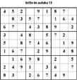 Grille de sudoku 13 pour enfants du primaire niveau 3