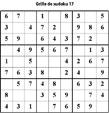 Grille de sudoku 17 pour enfants du primaire niveau 3