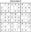 Grille de sudoku 18 pour enfants du primaire niveau 3