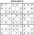 Grille de sudoku 20 pour enfants du primaire niveau 3