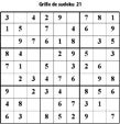 Grille de sudoku 21 pour enfants du primaire niveau 3