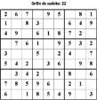 Grille de sudoku 22 pour enfants du primaire niveau 3