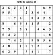 Grille de sudoku 23 pour enfants du primaire niveau 3