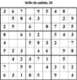 Grille de sudoku 24 pour enfants du primaire niveau 3