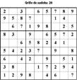 Grille de sudoku 26 pour enfants du primaire niveau 3