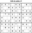 Grille de sudoku 27 pour enfants du primaire niveau 3