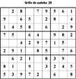 Grille de sudoku 28 pour enfants du primaire niveau 3