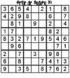 Grille de sudoku 31 pour enfants du primaire niveau 3