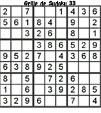Grille de sudoku 33 pour enfants du primaire niveau 3