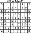 Grille de sudoku 34 pour enfants du primaire niveau 3