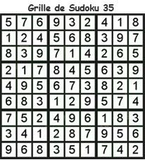 Solution de la grille de sudoku 35