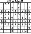 Grille de sudoku 35 pour enfants du primaire niveau 3