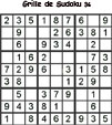 Grille de sudoku 36 pour enfants du primaire niveau 3
