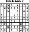 Grille de sudoku 37 pour enfants du primaire niveau 3