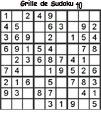 Grille de sudoku 40 pour enfants du primaire niveau 3
