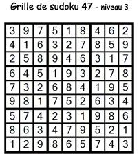 Solution de la grille de sudoku 47