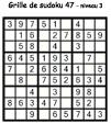 Grille de sudoku 47 pour enfants du primaire niveau 3