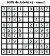 Grille de sudoku 48 pour enfants du primaire niveau 3