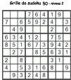 Grille de sudoku 50 pour enfants du primaire niveau 3