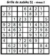 Grille de sudoku 51 pour enfants du primaire niveau 3