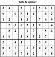 Imprimer la grille de sudoku 1 - niveau 3