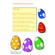 Comptine des Couleurs et nombres de Pâques en anglais