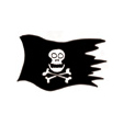 drapeau de pirate à imprimer